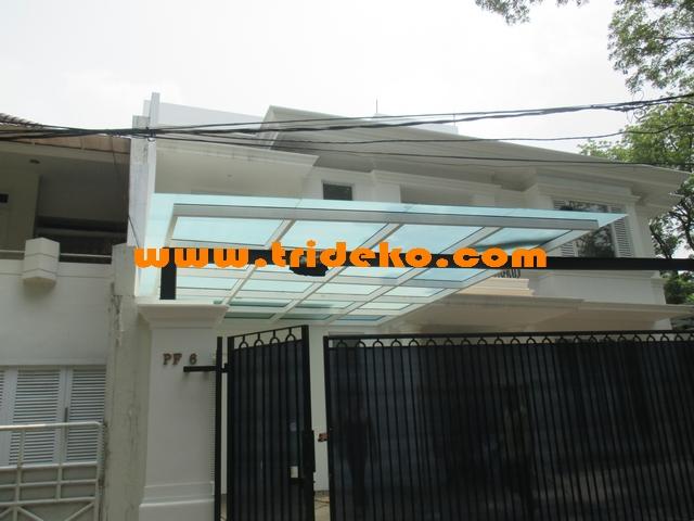 atap kaca kanopi rumah